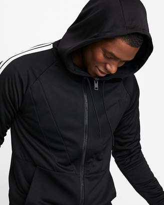Express Striped Sleeve Full Zip Hoodie