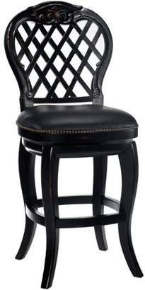 Hillsdale Furniture Braxton Wood Counter Stool, Black Honey Finish