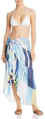 Echo Stripes on Stripes Pareo Swim Cover-Up