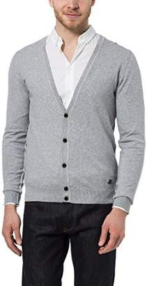 James Tyler Men's Cardigan, Knitted Jacket with Button Placket, in Light Summery Colours,S