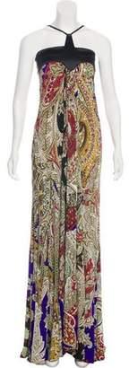 Just Cavalli Halter Printed Maxi Dress