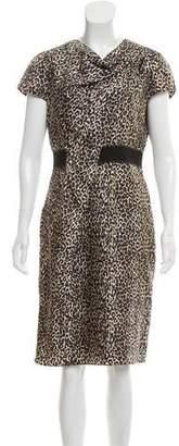 Paule Ka Silk Midi Dress