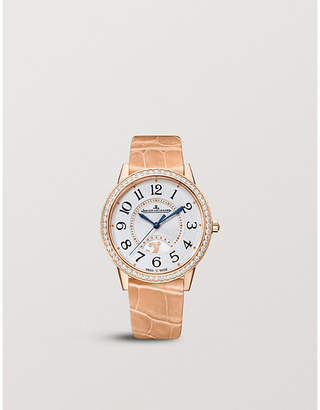 Jaeger-LeCoultre Q3612420 Rendez-vous rose gold, diamond and alligator watch