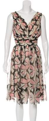 Anna Molinari Printed Silk Dress