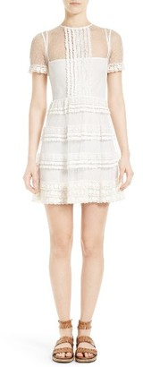 Women's Red Valentino Lace & Point D'Esprit Dress $995 thestylecure.com