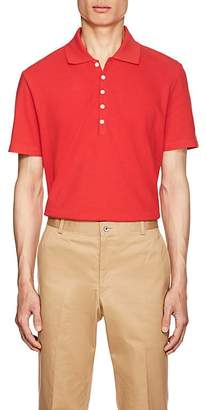 Thom Browne Men's Striped-Back Cotton Piqué Polo Shirt
