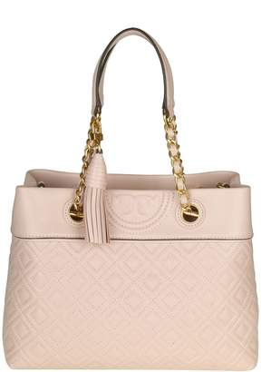 Tory Burch fleming Small Tote Hand Bag Color Rose Cyprus