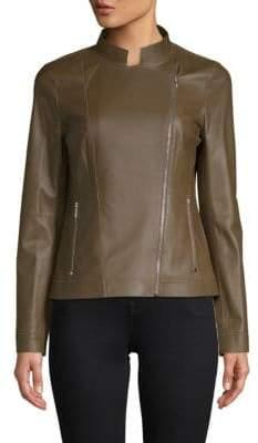 Lafayette 148 New York Warren Leather Jacket