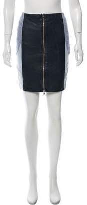 Timo Weiland Leather-Accented Mini Skirt