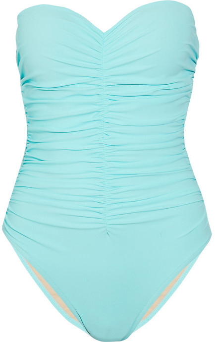 Karla Colletto Underwired ruched strapless swimsuit