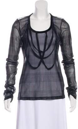 Jean Paul Gaultier Semi-Sheer Long Sleeve Top