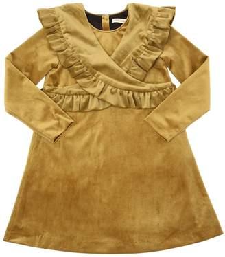 Velvet Dress W/ Ruffled Collar