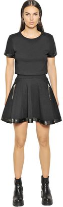 Cotton Jersey & Faux Leather Dress $265 thestylecure.com