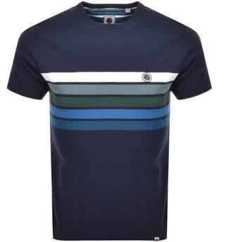 Pretty Green Gordon Chest Logo T Shirt Navy