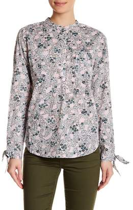Joe Fresh Floral Print Tie Sleeve Shirt