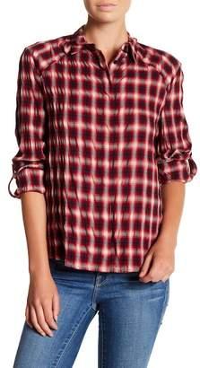 Alice + Olivia Roll Sleeve Plaid Shirt