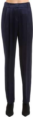 Magda Butrym Silk Satin Wide Leg Pants
