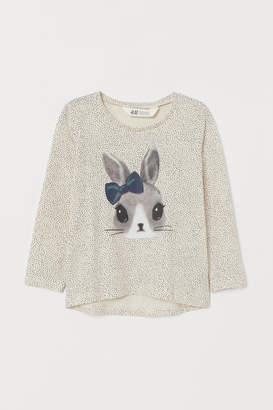 H&M Top with Printed Design - Beige