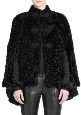 Saint Laurent Cropped Shearling Cape