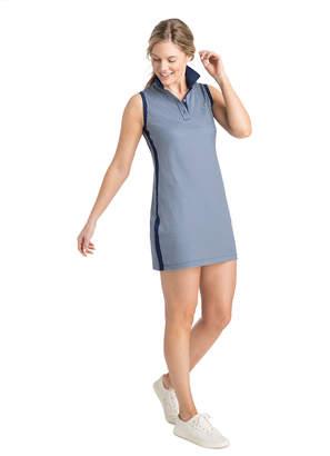 Vineyard Vines Gingham Printed Sleeveless Pique Sport Polo Dress
