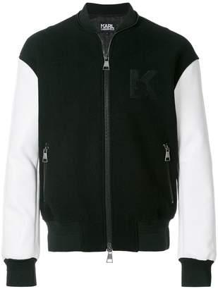 Karl Lagerfeld varsity bomber jacket
