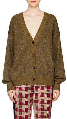 Dries Van Noten Women's Metallic-Knit Cardigan