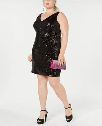 Morgan & Company Trendy Plus Size Sequined Dress