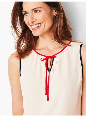 Talbots Tipped Sleeveless Shell