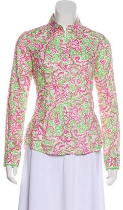 Lilly Pulitzer Printed Button-Up Top