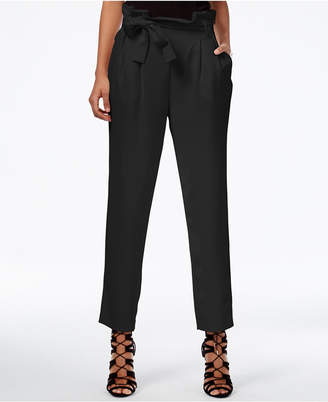 Rachel Roy Paper Bag Tapered Trousers