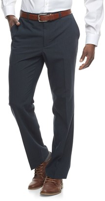 Apt. 9 Big & Tall Slim-Fit Premier Flex Crosshatch Dress Pants
