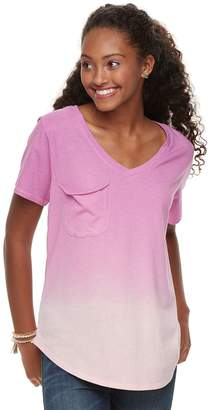 Grayson Threads Juniors' V-Neck Pocket Tee