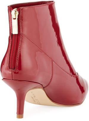Halston Tiana Patent Leather Booties