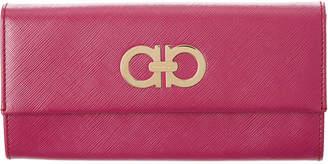 Salvatore Ferragamo Double Gancini Leather Continental Wallet