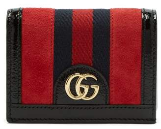 Gucci Ophidia Suede Square Wallet - Womens - Red