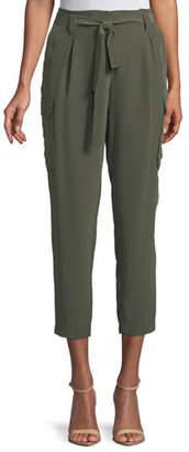 L'Agence Roxy Paperbag Silk Cargo Pants