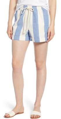 Lou & Grey Stripe Drawstring Shorts
