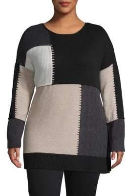 Style&Co. Style & Co. Plus Classic Colourblock Sweater
