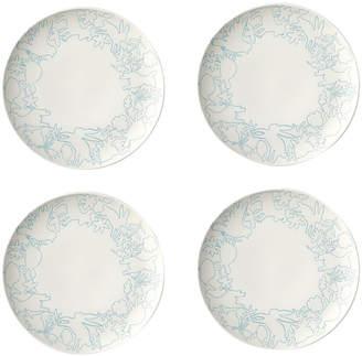 ED Ellen Degeneres By Royal Doulton Set Of 4 Polar Blue Porcelain Salad Plates