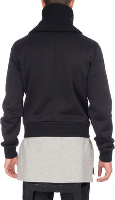 Givenchy Funnel-Neck Zip-Front Sweatshirt