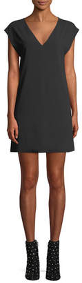 Alice + Olivia Carita Short-Sleeve Tie-Back Shift Dress