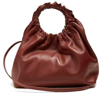 The Row - Double Circle Small Leather Bag - Womens - Burgundy