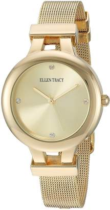 Ellen Tracy Women's ET5232GD Dial Classic Round Watch