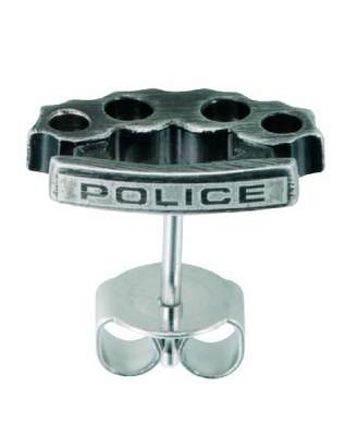 Police Bash Logo Earrings