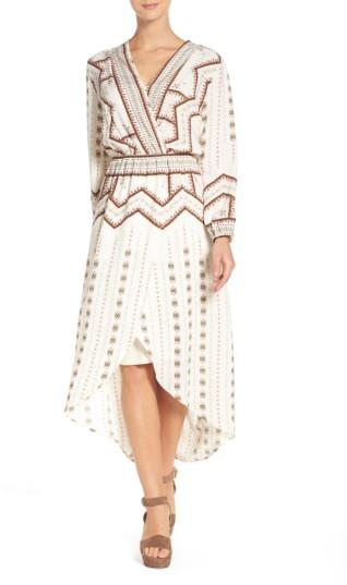 Women's Fraiche By J Print Faux Wrap Dress