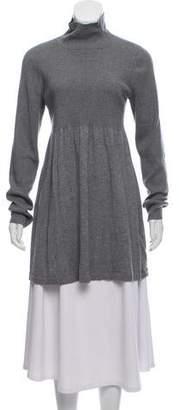 Magaschoni Turtleneck Rib Knit Sweater