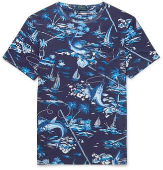 Polo Ralph Lauren Slim-fit Printed Cotton-jersey T-shirt - Purple