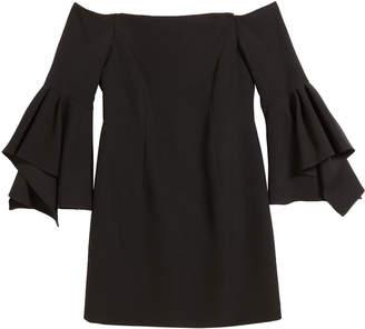 Milly Luna Italian Cady Off-the-Shoulder Dress, Size 7-16