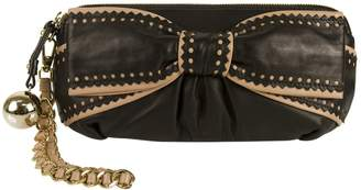 Moschino Cheap & Chic Moschino Cheap And Chic Black Leather Clutch Bag