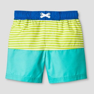 Cat & Jack Toddler Boys' Pieced Swim Trunk Cat & Jack - Aqua/Green $9.99 thestylecure.com